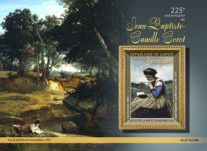 GUINEA - 2021 - Jean-Baptistle-Camille Corot- Perf Souv Sheet -Mint Never Hinged