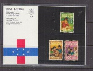 NETHERLANDS ANTILLES,1984 Child Welfare set of 3, Folder 8