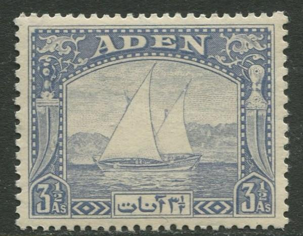 ADEN - Scott 7  - Dhows -1937 -  MNH - Single 3.5a Stamp