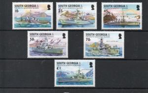 South Georgia 297-302 MNH