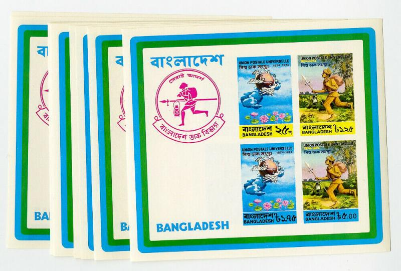 Bangladesh Stamps # 68A NH Lot of 10 Boy Scouts Sheets Scott Value $1,000.00