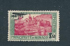 Monaco, C1, Surcharged in Black Airmail Single, **Hinged**