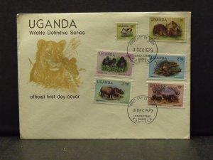 6119   Uganda   FDC # 281, 284, 285, 287, 288, 290        CV$ 10.00