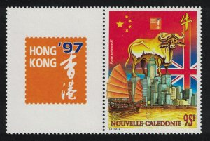 New Caledonia Hong Kong 97 International Stamp Exhibition Year of the Ox 1v Left