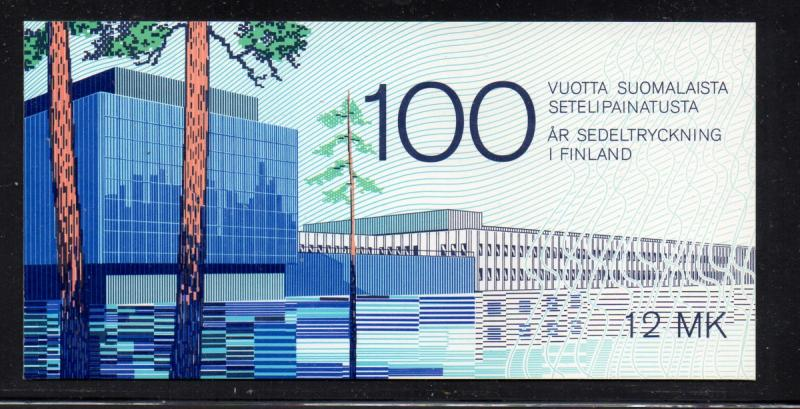 Finland Sc 706 1985 Banknotes stamp booklet mint NH
