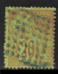 French Colonies #52 used 2017 SCV $18.00