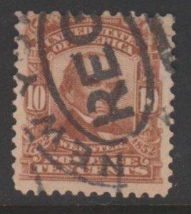 U.S. Scott #307 Webster Stamp - Used Set of 2
