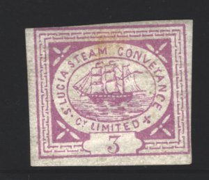 St Lucia Steam Conveyance MH - tan gum