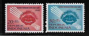 INDONESIA B180-B181 MNH MAKARA MASK & MAGIC RAYS SET 1965