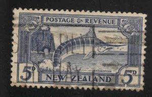 New Zealand Scott 210a Used Striped Marlin fish stamp perf 12.5