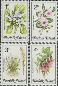 Norfolk Island 1984 SG318-321 Flowers MNH
