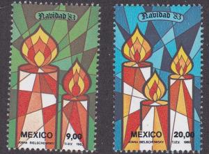 Mexico # 1328-1329, Christmas Candles, NH 1/2 Cat.