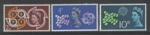 Great Britain 1961 C.E.P.T. (3)  Scott #382-4