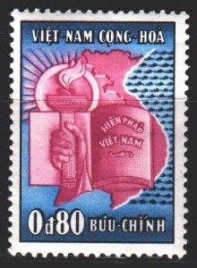 South Vietnam. 1957. 146 from the series. Constitution, hands, torch. MLH.