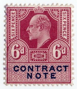 (I.B) Edward VII Revenue : Contract Note 6d (1915)