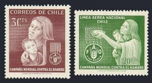 Chile 342,C248 blocks/4,MLH/MNH. Michel 618-619. FAO 1963.Freedom from Hunger.