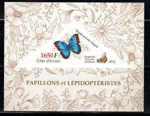 IVORY COAST BUTTERFLIES IMPERF  SOUVENIR SHEET  LOT B112