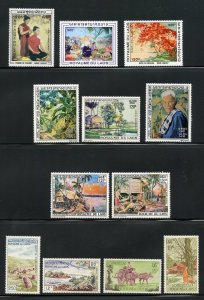 LAOS  SELECTION I  OF MINT NH STAMPS AND SOUVENIR SHEETS AS SHOWN