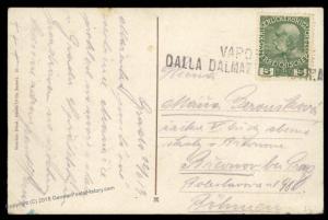 Austria 1913 Steamer Vapore Dalla Dalmazia Ed Istria Steamship Cover 90162