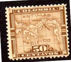 COLOMBIA 20 MH BIN $2.00 GEOGRAPHY