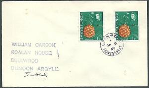 MONTSERRAT 1969 cover, GPO PLYMOUTH cds.....................................1193
