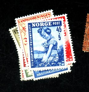 NORWAY #B42-9 53 MINT F-VF OG HR Cat $22