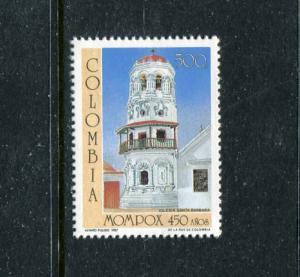 Colombia 970, MNH, Santa Barbara Churcha & Architecture 1987. x23389