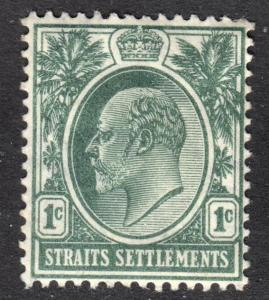 Malaya Straits Settlements Scott 109  wtmk 3 F to VF mint OG HHR.