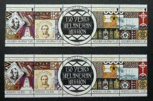 Norfolk Island Solomon Joint Issue 150th Ann Melanesian Mission 1999 (stamp) MNH