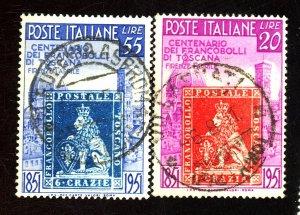 ITALY #568-69 USED FVF Cat $39