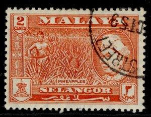 MALAYSIA - Selangor QEII SG117, 2c orange-red, FINE USED.