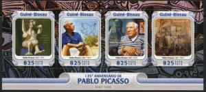 GUINEA BISSAU 2016 135th BIRTH ANNIVERSARY  OF PABLO PICASSO  SHEET  MINT NH