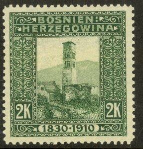 BOSNIA AND HERZEGOVINA 191 2K FRANZ JOSEPH Birthday Jubilee Issue Sc 60 MHR