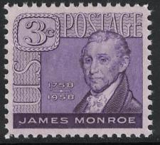 SCOTT # 1105 JAMES MONROE SINGLE MINT NEVER HINGED GEM !!