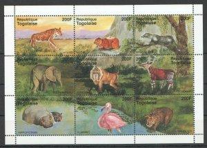Togo MNH S/S Animals Fauna 2010