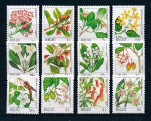 [56545] Palau 1987 Flowers 12 Values MNH