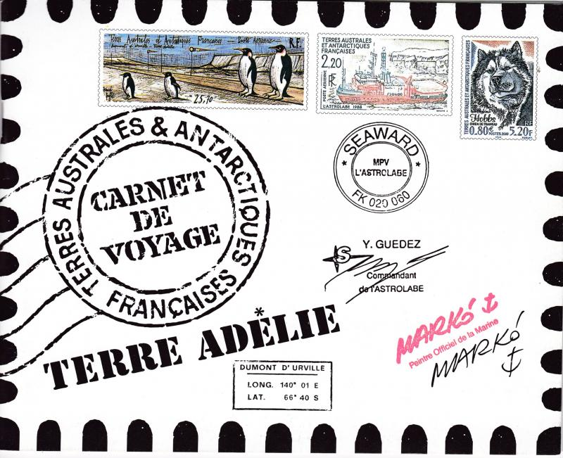 French Antarctic Territory 2001 French Post Voyage Booklet Post Office Fresh