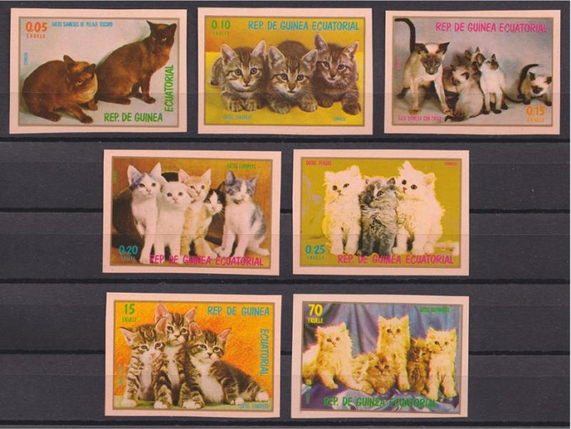 Equatorial Guinea, CATS, imperforated set 1978