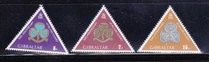 Gibraltar 322-324 Set MNH Girl Guides