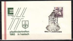 Austria, 1965 issue. 28/JUL/65 cancel. Europa-Scouts cancel on Envelope. ^