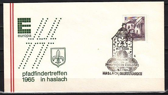 Austria, 28/JUL/65 cancel. Europa-Scouts cancel on Envelope.