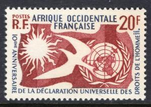 French West Africa 85 Human Rights MNH VF