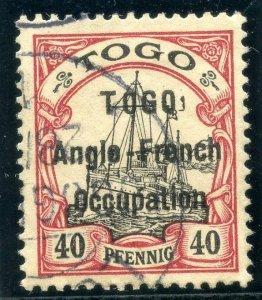 Togo 1914 40pf black & carmine very fine used. SG H7. Sc 41.