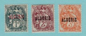 Algeria Scott #1 to 3, Partial Set of 3, Mint, Stamps of France Overprinted, ...