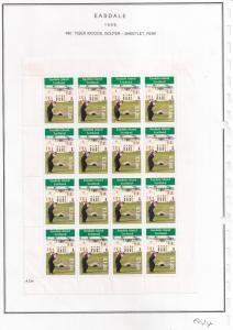 SCOTLAND - EASDALE - 1999 - Tiger Woods - Perf 16v Sheet - MLH