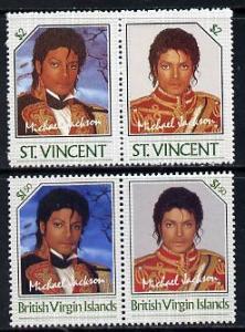 British Virgin Islands 1985 Michael Jackson $1.50 Unissue...