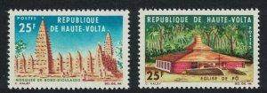 Upper Volta Mosque Church Religious Buildings 2v 1966 MNH SG#192-193