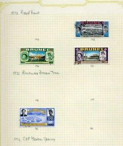 Brunei 1972 used range on page