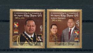 Tonga 2015 MNH Coronation King Tupou VI & Queen Nanasipau'u 2v Set