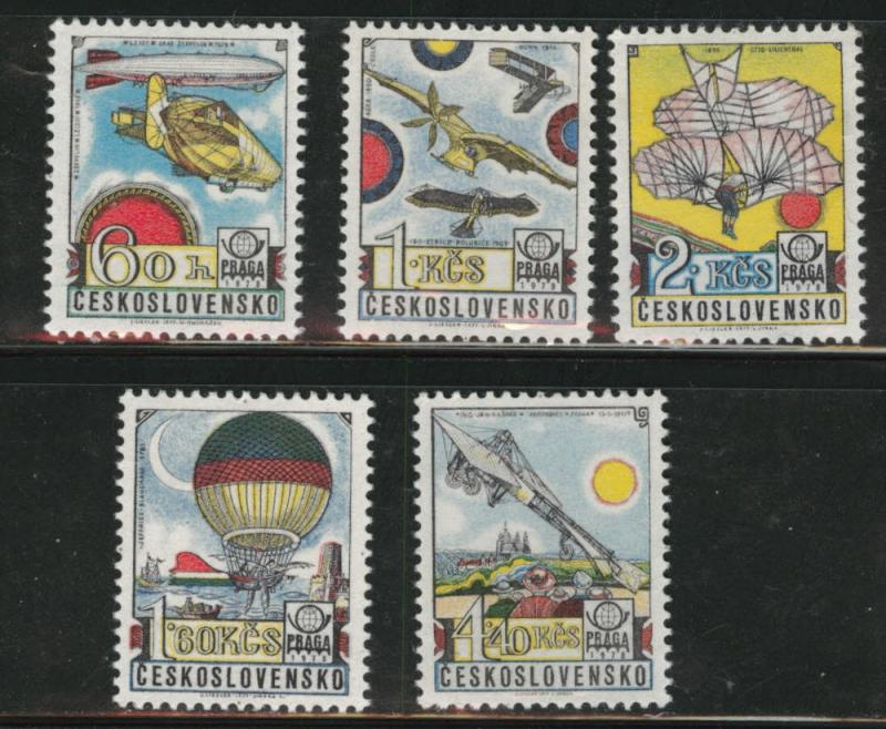 Czechoslovakia Scott C89-93 MNH** airmail set